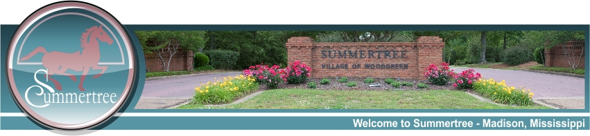 Summertree Home Owners Association - Madison, Mississippi